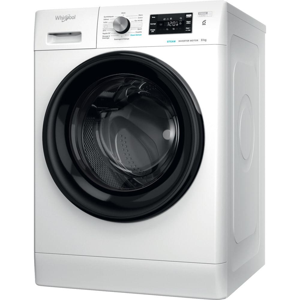 Whirlpool Lave-linge posable FFB 8458 BV FR : consultez les spécificités de votre appareil et découvrez toutes ses fonctions innovantes pour votre famille et votre maison.