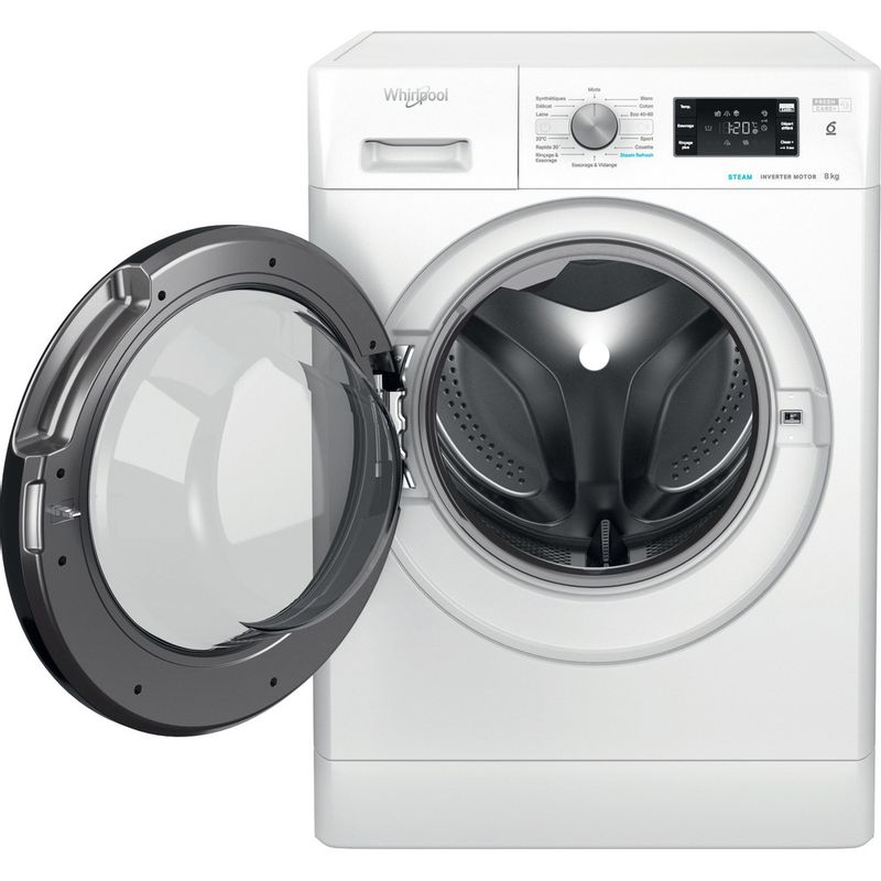 Whirlpool-Lave-linge-Pose-libre-FFB-8458-BV-FR-Blanc-Lave-linge-frontal-B-Frontal-open