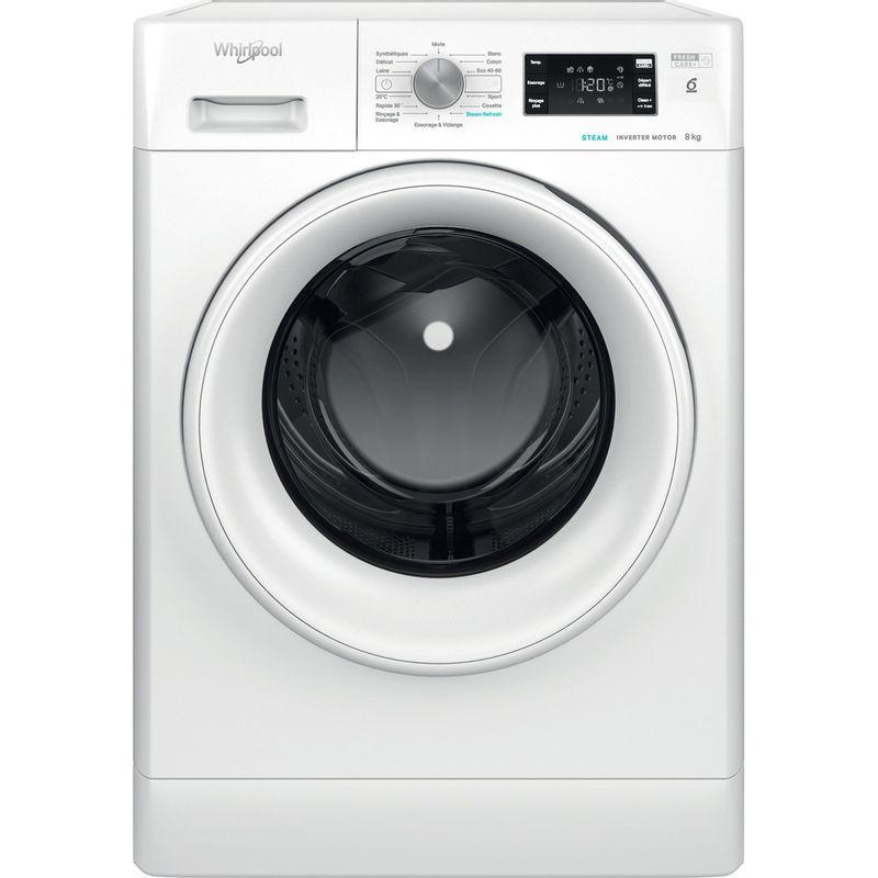 Whirlpool-Lave-linge-Pose-libre-FFBS-8458-WV-FR-Blanc-Lave-linge-frontal-B-Frontal