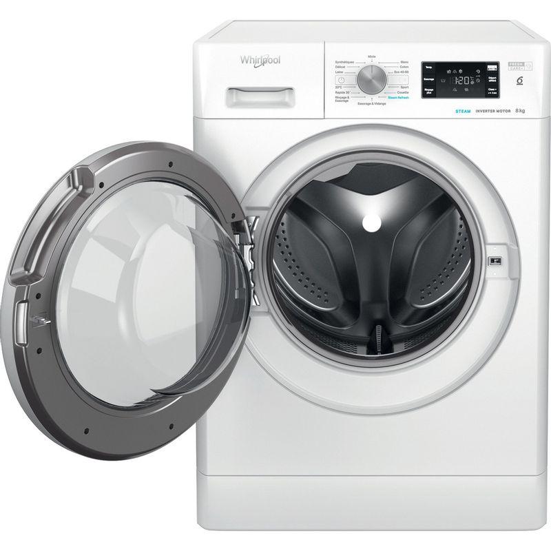 Whirlpool-Lave-linge-Pose-libre-FFBC-8458-SV-FR-Blanc-Lave-linge-frontal-B-Frontal-open