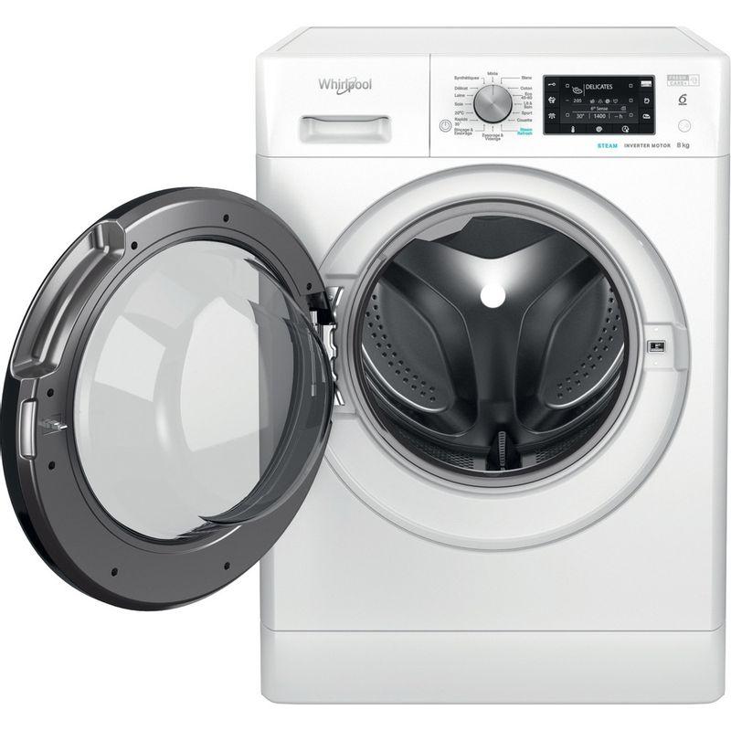 Whirlpool-Lave-linge-Pose-libre-FFD-8458-BV-FR-Blanc-Lave-linge-frontal-B-Frontal-open