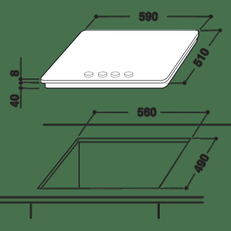 Whirlpool-Table-de-cuisson-AKT-404-NB-Noir-Gaz-Technical-drawing