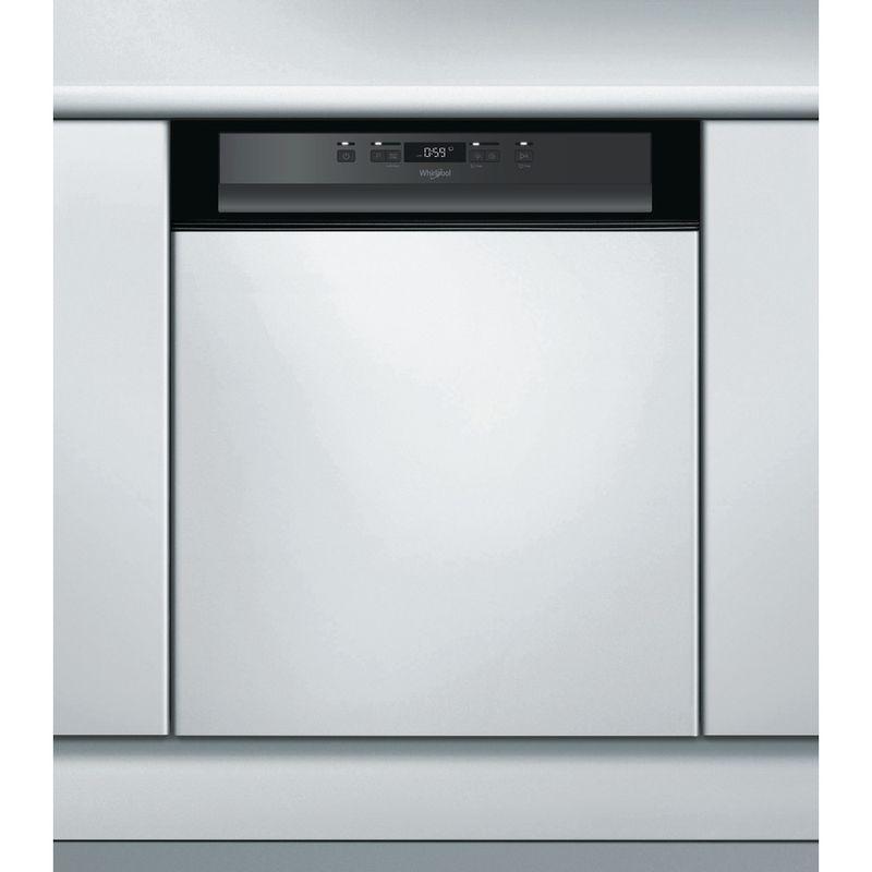 Whirlpool-Lave-vaisselle-Encastrable-WBC-3C24-P-B-Semi-integre-A---Frontal