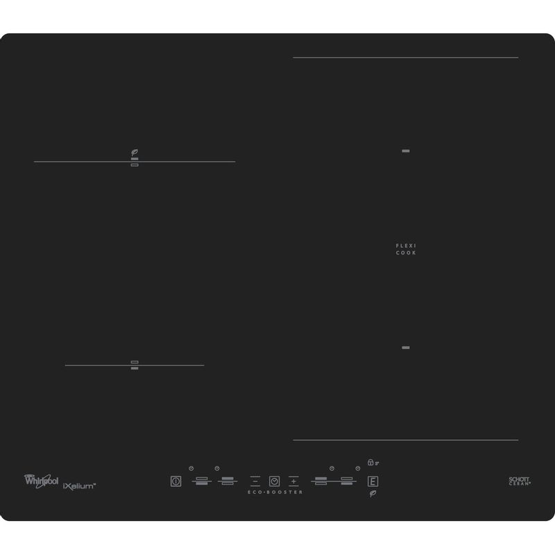 Whirlpool-Table-de-cuisson-ACM-826-NE-IXL-Noir-Induction-vitroceramic-Frontal