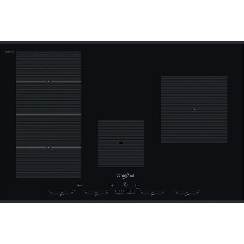 Whirlpool-Table-de-cuisson-SMC-774-F-BT-IXL-Noir-Induction-vitroceramic-Frontal