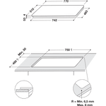Whirlpool-Table-de-cuisson-SMC-774-F-BT-IXL-Noir-Induction-vitroceramic-Technical-drawing