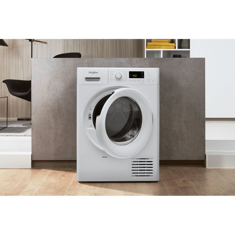 Whirlpool-Seche-linge-FT-M11-82-FR-Blanc-Lifestyle-frontal-open