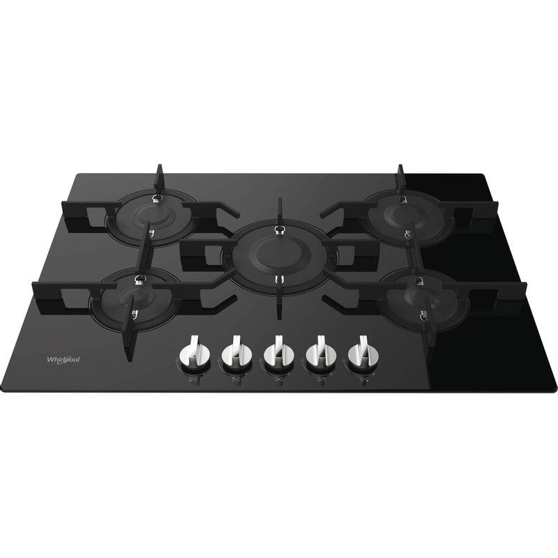 Whirlpool-Table-de-cuisson-POW-75D2-NB-FR-Noir-Gaz-Frontal-top-down