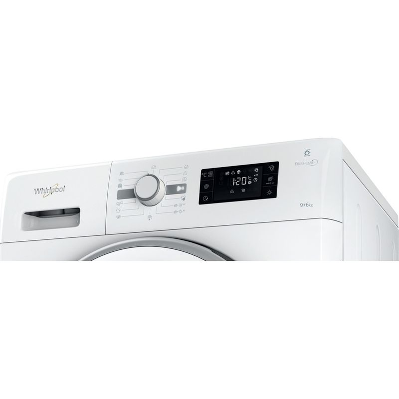 Whirlpool-Lavante-sechante-Pose-libre-FWDG96148WS-EU-Blanc-Lave-linge-frontal-Control-panel