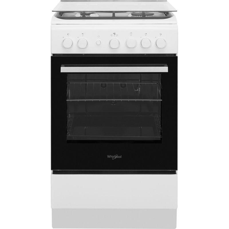 Whirlpool-Cuisiniere-WS5G1PMW-E-Blanc-Gaz-Frontal