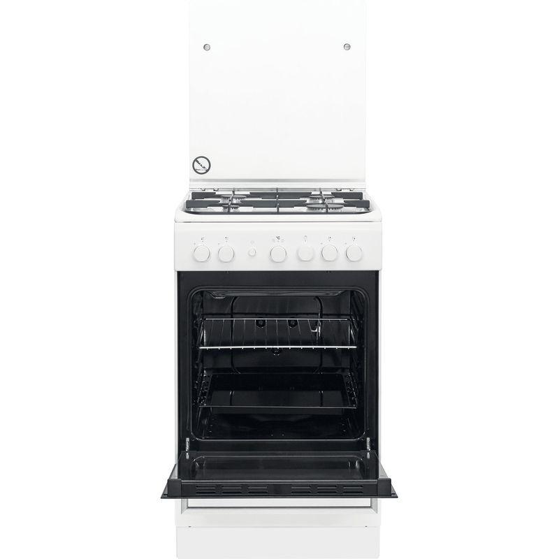 Whirlpool-Cuisiniere-WS5G1PMW-E-Blanc-Gaz-Frontal-open