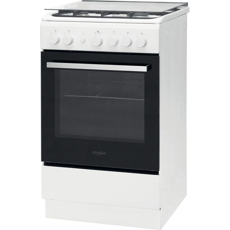 Whirlpool-Cuisiniere-WS5G1PMW-E-Blanc-Gaz-Perspective
