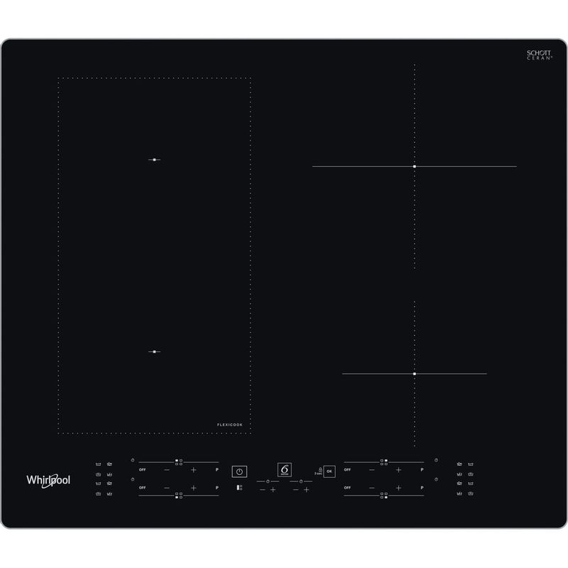 Whirlpool-Table-de-cuisson-WL-B5860-AL-Noir-Induction-vitroceramic-Frontal