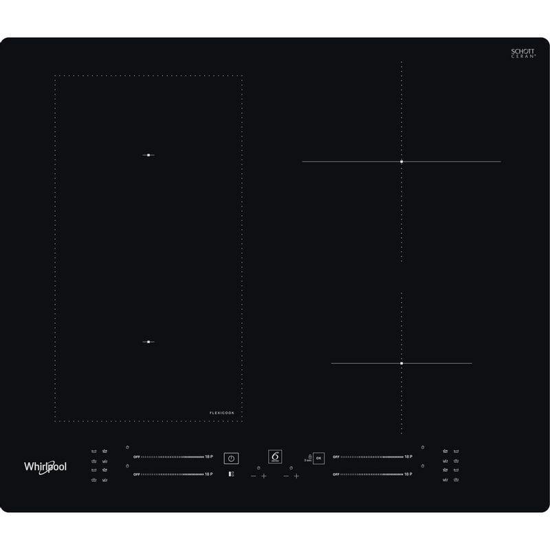 Whirlpool-Table-de-cuisson-WL-S7960-NE-Noir-Induction-vitroceramic-Frontal