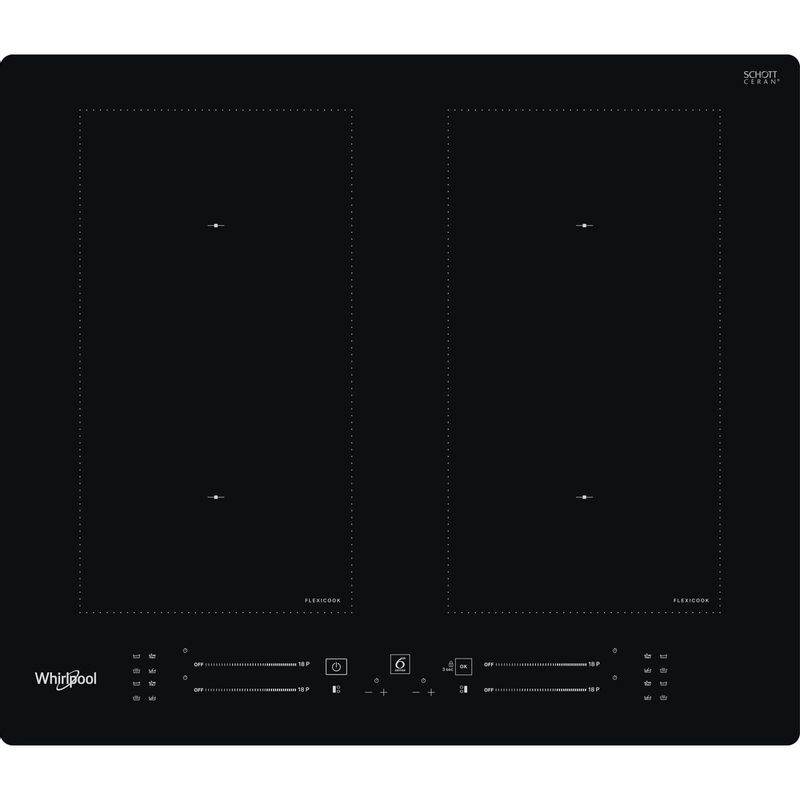 Whirlpool-Table-de-cuisson-WL-S1360-NE-Noir-Induction-vitroceramic-Frontal