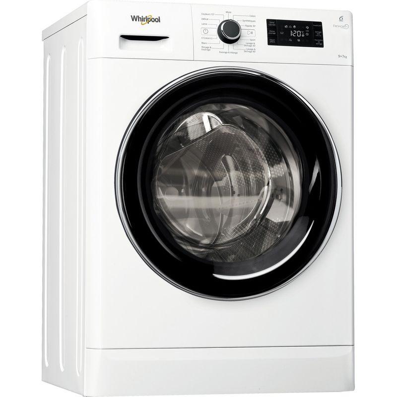 Whirlpool-Lavante-sechante-Pose-libre-FWDG97168BXFR-Blanc-Lave-linge-frontal-Perspective