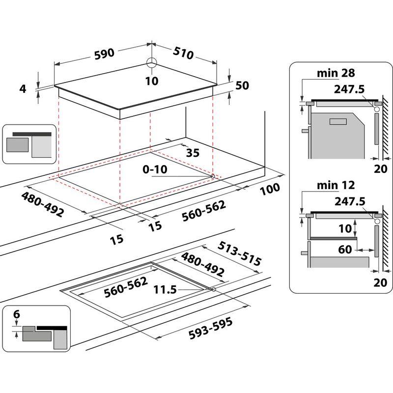 Whirlpool-Table-de-cuisson-WF-S0160-NE-Noir-Induction-vitroceramic-Technical-drawing