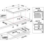Whirlpool-Table-de-cuisson-WF-S3977-NE-Noir-Induction-vitroceramic-Technical-drawing
