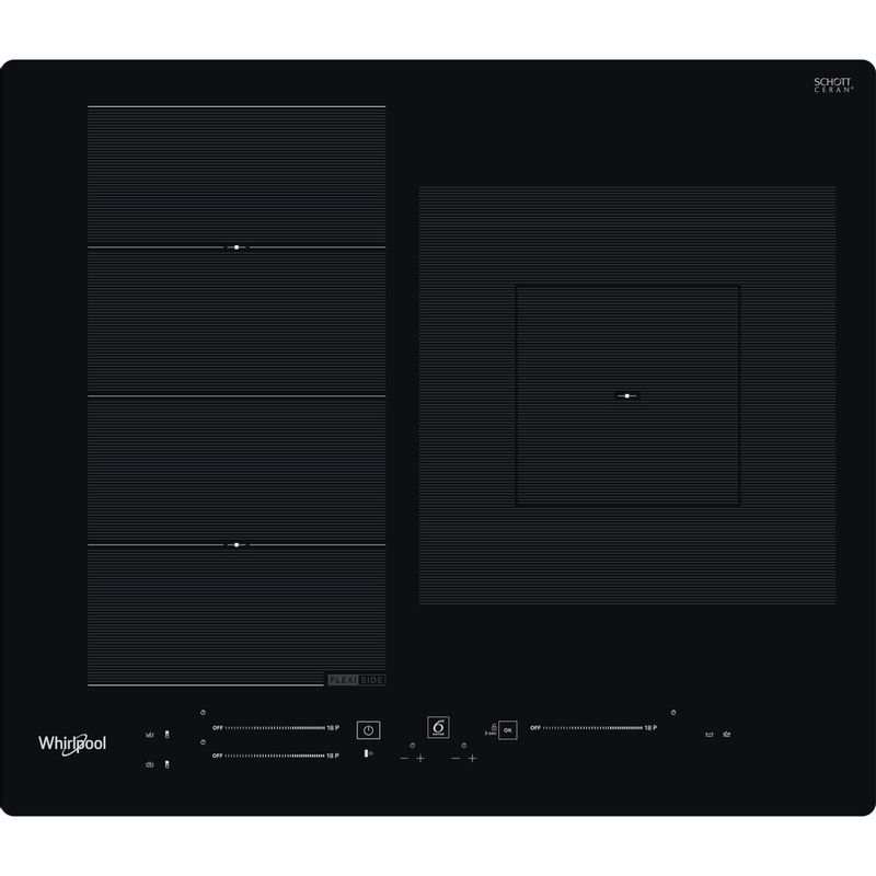 Whirlpool-Table-de-cuisson-WF-S9560-NE-Noir-Induction-vitroceramic-Frontal