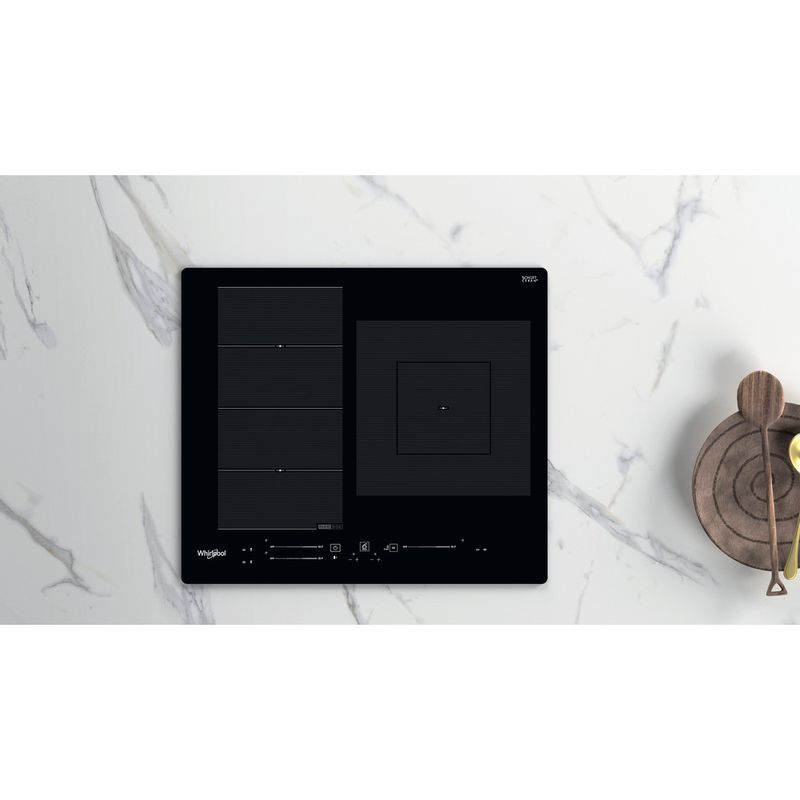 Whirlpool-Table-de-cuisson-WF-S9560-NE-Noir-Induction-vitroceramic-Lifestyle-frontal