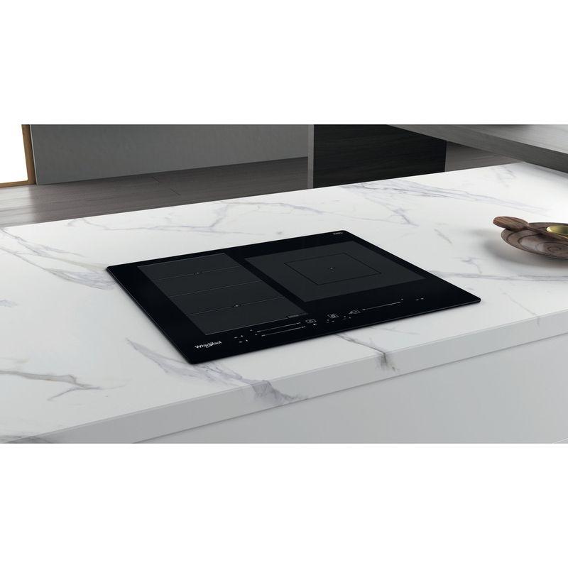 Whirlpool-Table-de-cuisson-WF-S9560-NE-Noir-Induction-vitroceramic-Lifestyle-perspective