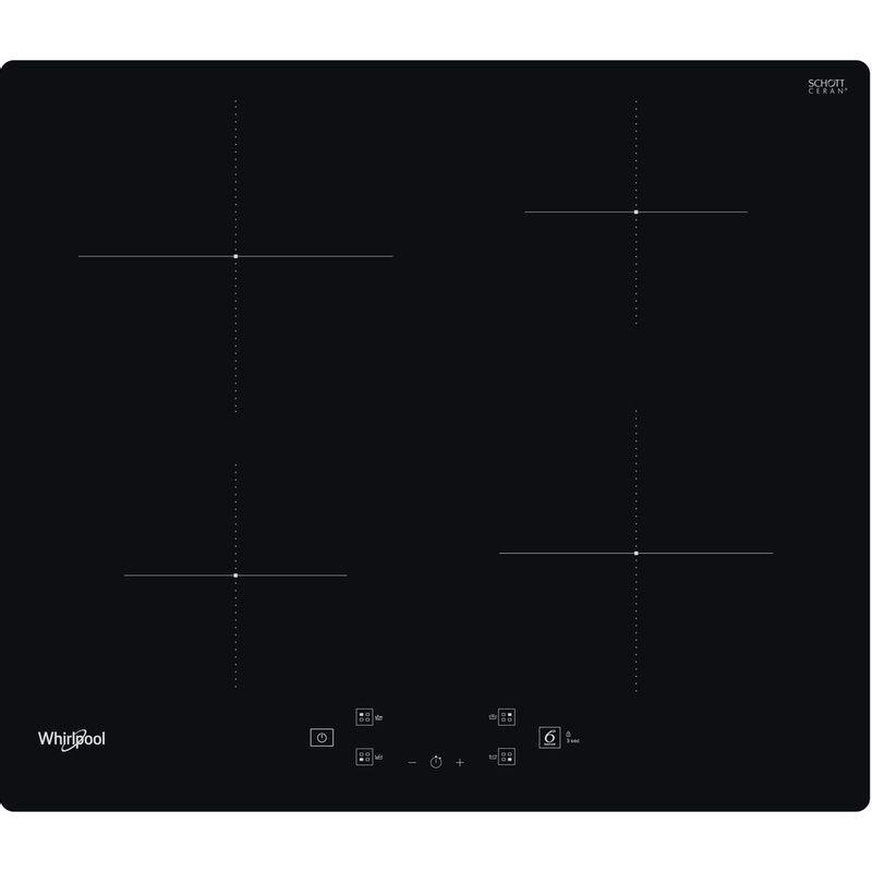 Whirlpool-Table-de-cuisson-WS-Q2160-NE-Noir-Induction-vitroceramic-Frontal