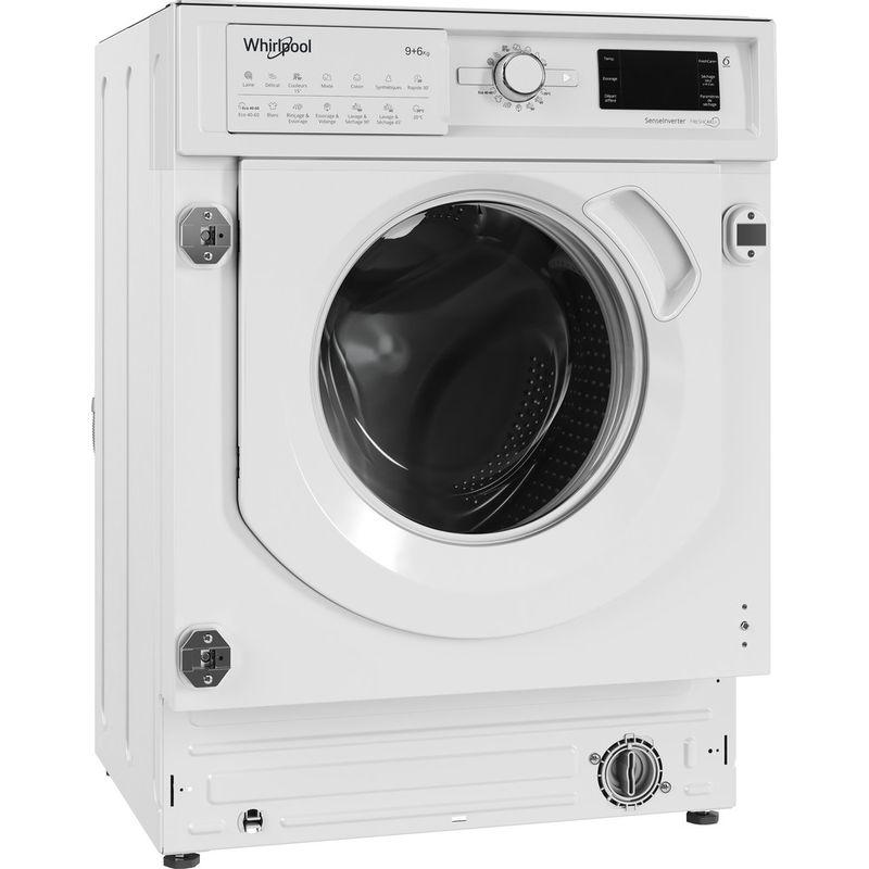 Whirlpool-Lavante-sechante-Encastrable-BI-WDWG-961484-FR-Blanc-Lave-linge-frontal-Perspective