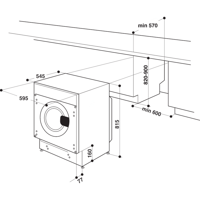 Whirlpool-Lavante-sechante-Encastrable-BI-WDWG-961484-FR-Blanc-Lave-linge-frontal-Technical-drawing
