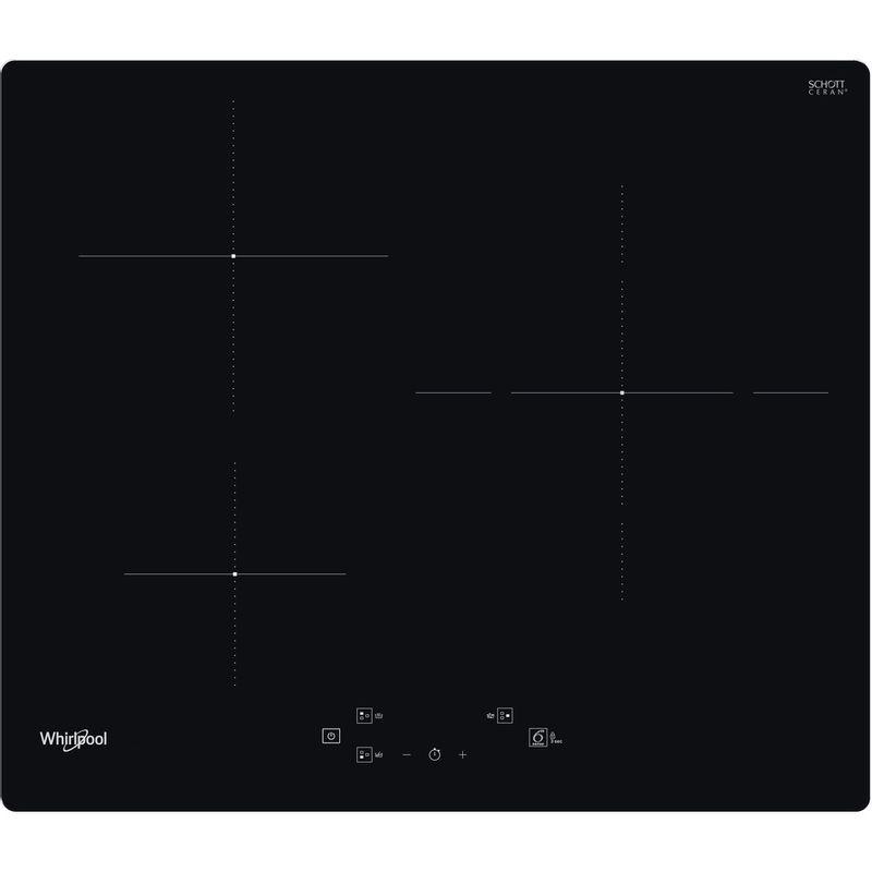 Whirlpool-Table-de-cuisson-WS-Q1160-NE-Noir-Induction-vitroceramic-Frontal