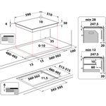 Whirlpool-Table-de-cuisson-WS-Q1160-NE-Noir-Induction-vitroceramic-Technical-drawing