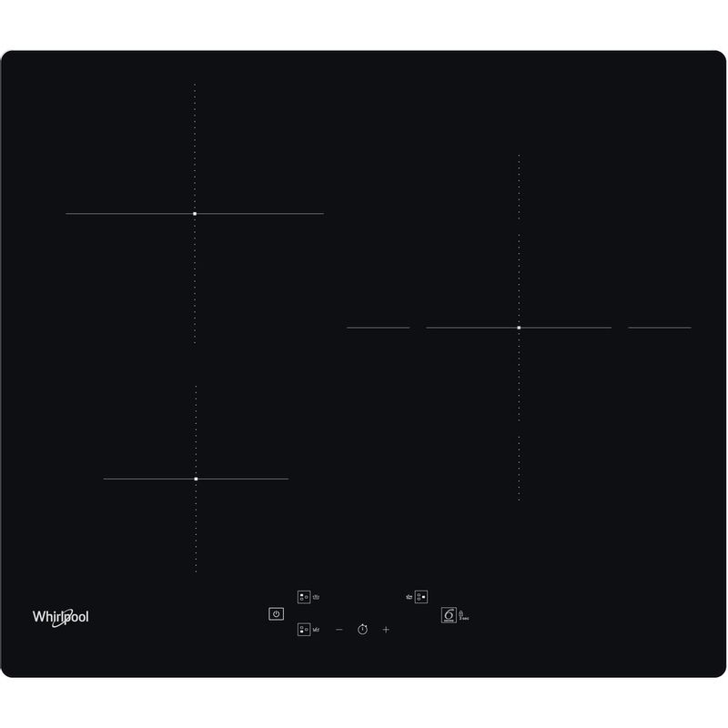 Whirlpool-Table-de-cuisson-WS-Q5760-NE-Noir-Induction-vitroceramic-Frontal