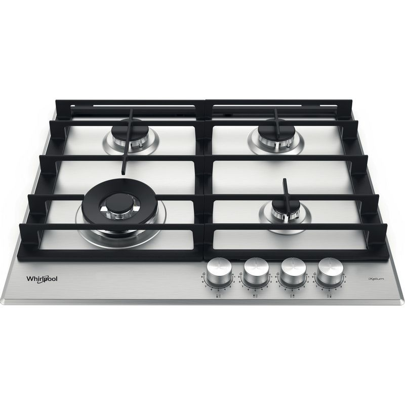 Whirlpool-Table-de-cuisson-GMWL-628-IXL-FR-Inox-Ixelium-Gaz-Frontal-top-down