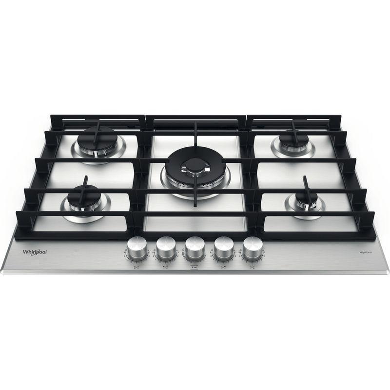 Whirlpool-Table-de-cuisson-GMWL-758-IXL-FR-Inox-Ixelium-Gaz-Frontal-top-down