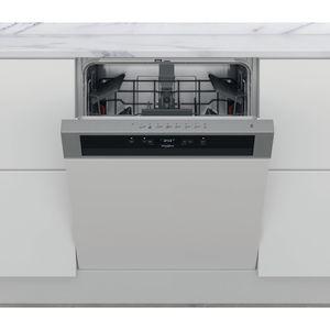 Lave-vaisselle semi-encastrable Whirlpool: couleur inox, standard - WBC 3C26 X
