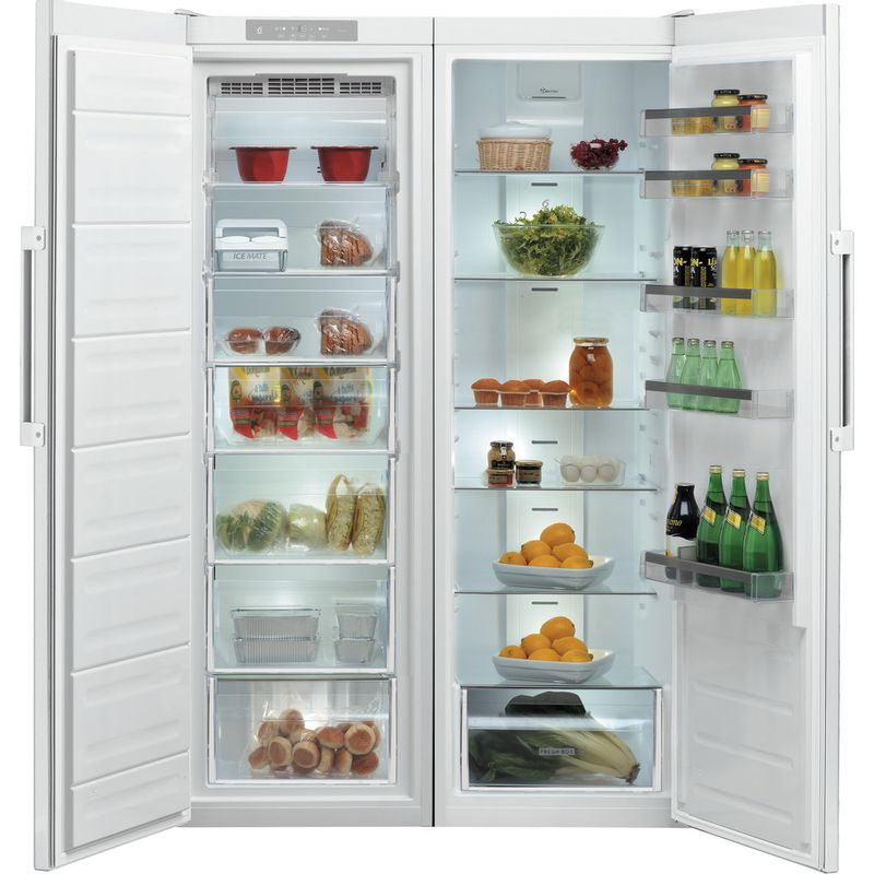 Whirlpool-Refrigerateur-Pose-libre-SW8-AM2Q-W-2-Blanc-Frontal-open