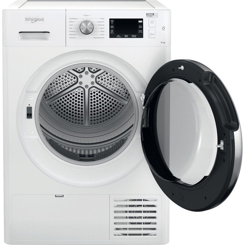 Whirlpool-Seche-linge-FFT-M22-9X3BX-FR-Blanc-Frontal-open