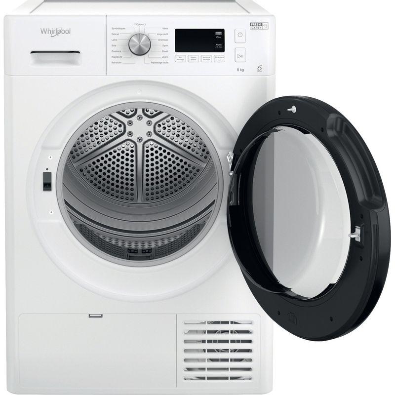 Whirlpool-Seche-linge-FFTD-M11-8X1B-FR-Blanc-Frontal-open