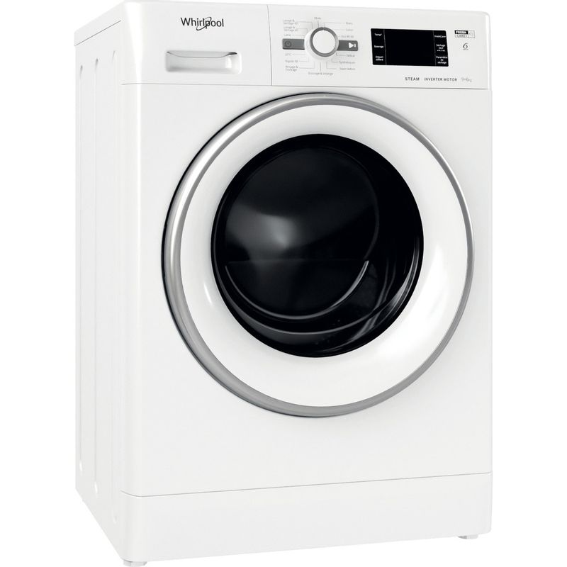 Whirlpool-Lavante-sechante-Pose-libre-FWDG961483WSVFR-N-Blanc-Lave-linge-frontal-Perspective
