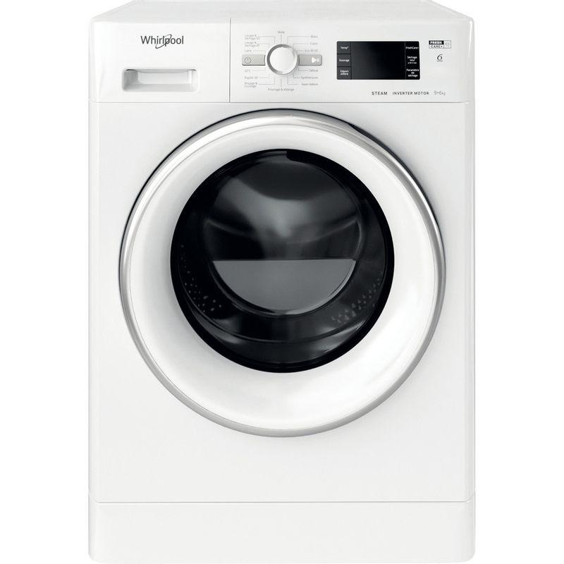 Whirlpool-Lavante-sechante-Pose-libre-FWDG961483WSVFR-N-Blanc-Lave-linge-frontal-Frontal