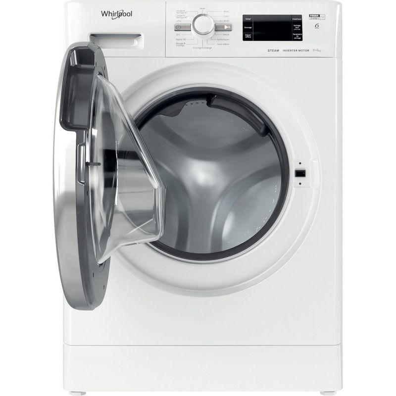 Whirlpool-Lavante-sechante-Pose-libre-FWDG961483WSVFR-N-Blanc-Lave-linge-frontal-Frontal-open