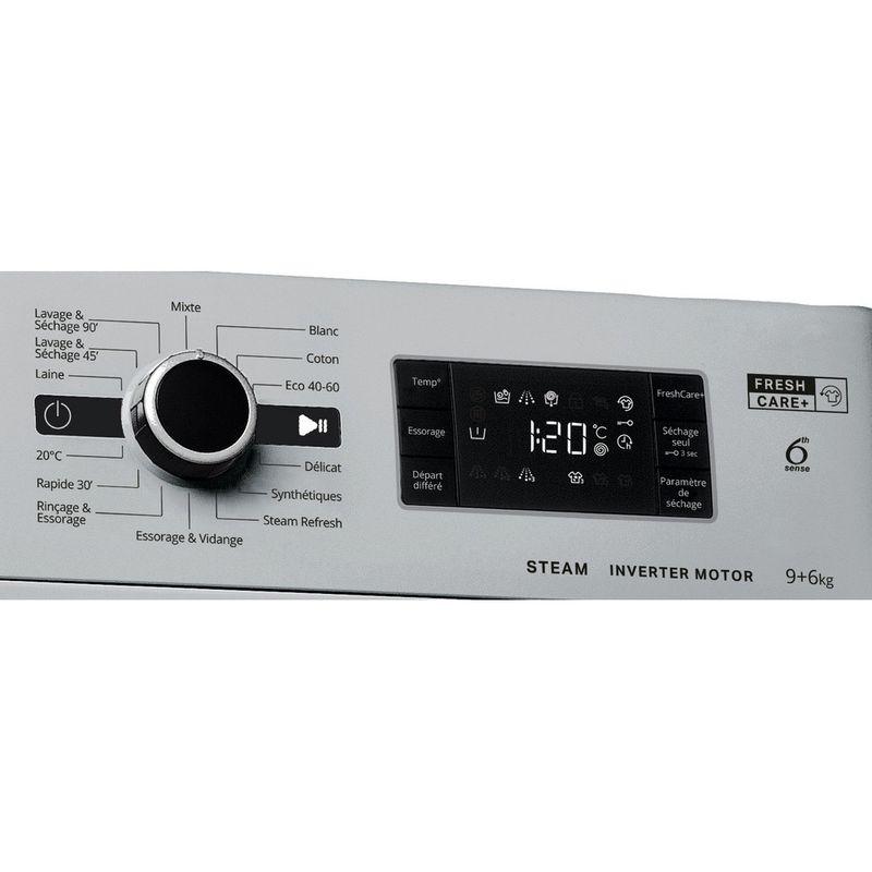 Whirlpool-Lavante-sechante-Pose-libre-FWDG961483SBSVFR-N-Argent-Lave-linge-frontal-Control-panel