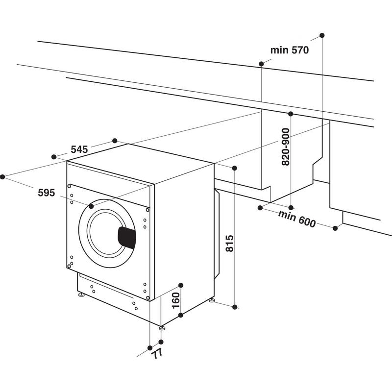 Whirlpool-Lavante-sechante-Encastrable-BI-WDWG-751482-EU-N-Blanc-Lave-linge-frontal-Technical-drawing
