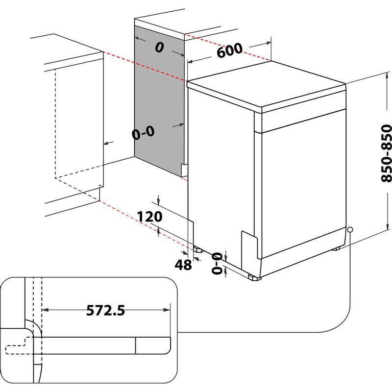 Whirlpool-Lave-vaisselle-Pose-libre-WFC-3C34-Pose-libre-D-Technical-drawing