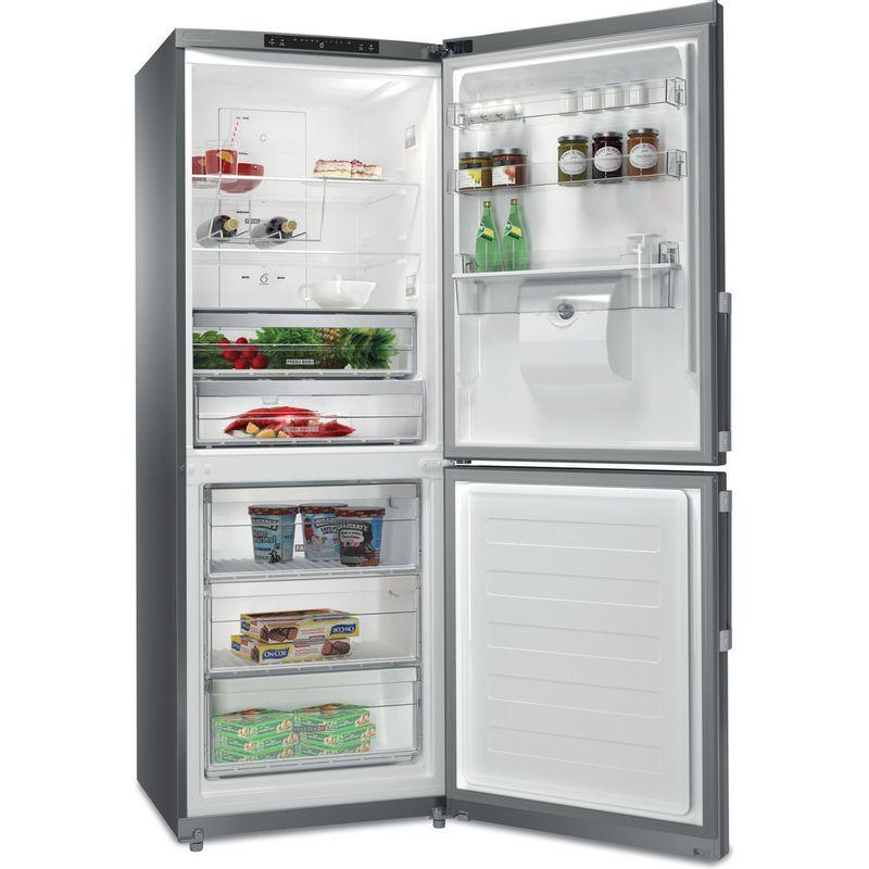 Whirlpool-Combine-refrigerateur-congelateur-Pose-libre-WB70I-952-X-AQUA-Optic-Inox-2-portes-Perspective-open
