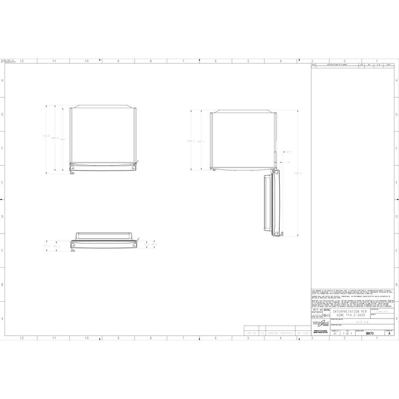 Whirlpool-Combine-refrigerateur-congelateur-Pose-libre-WB70I-931-X-Optic-Inox-2-portes-Technical-drawing