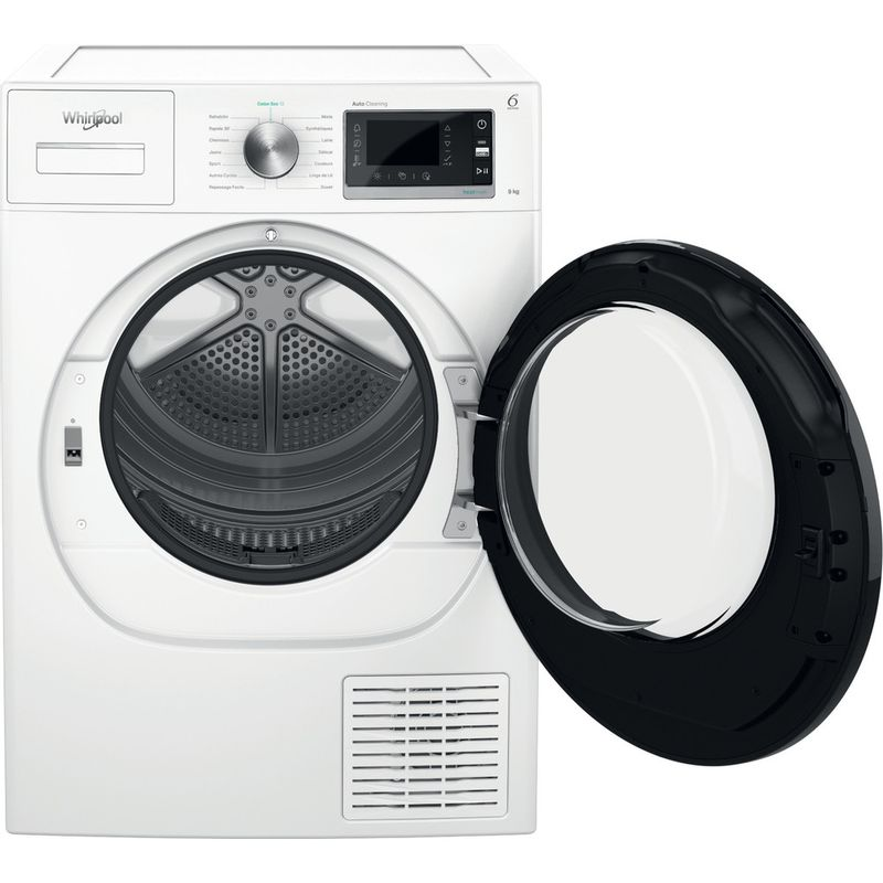 Whirlpool-Seche-linge-W6-D93WB-FR-Blanc-Frontal-open